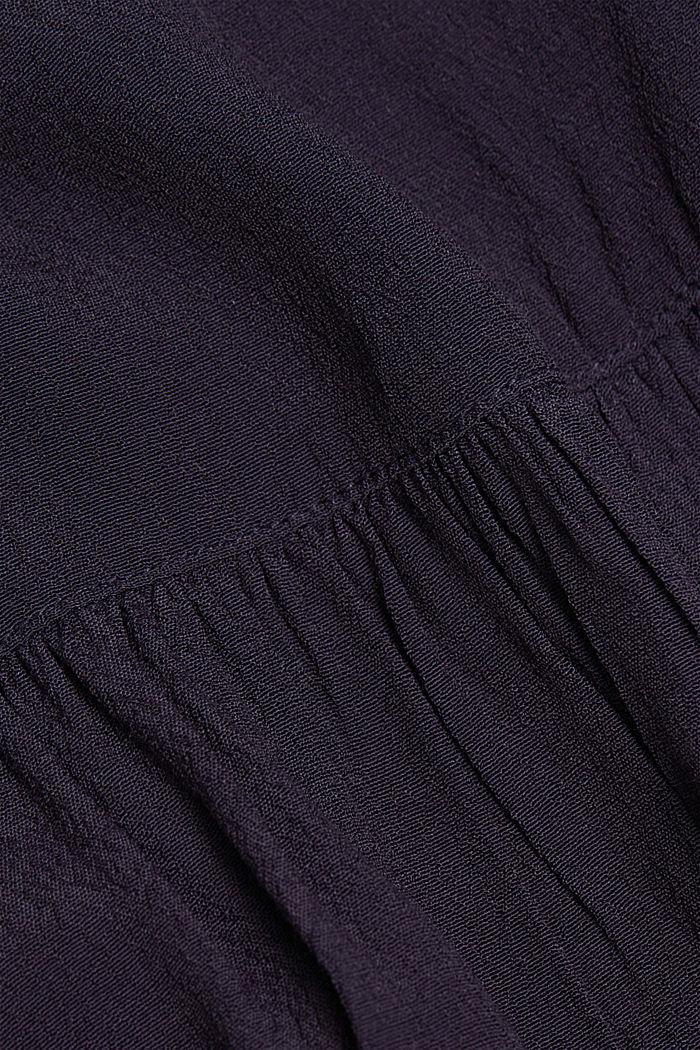 Weite Tunika-Bluse, NAVY, detail image number 4