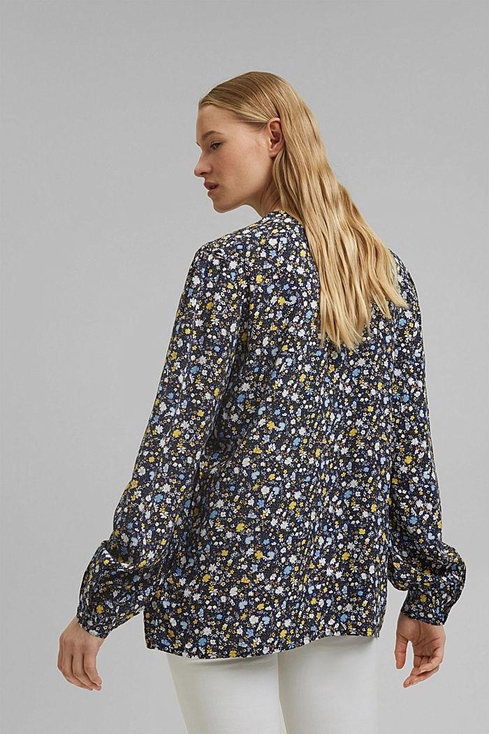 Print-Bluse aus LENZING™ ECOVERO™, NAVY BLUE, detail image number 3