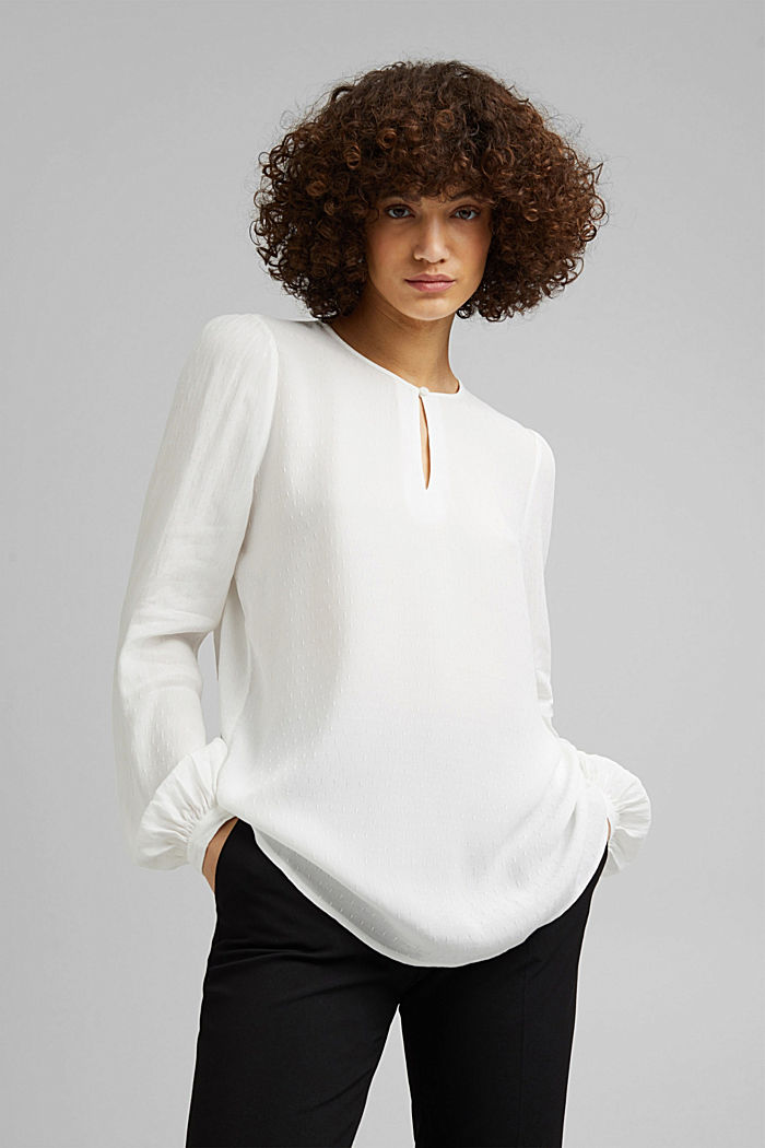 Finely textured blouse made of LENZING™ ECOVERO™