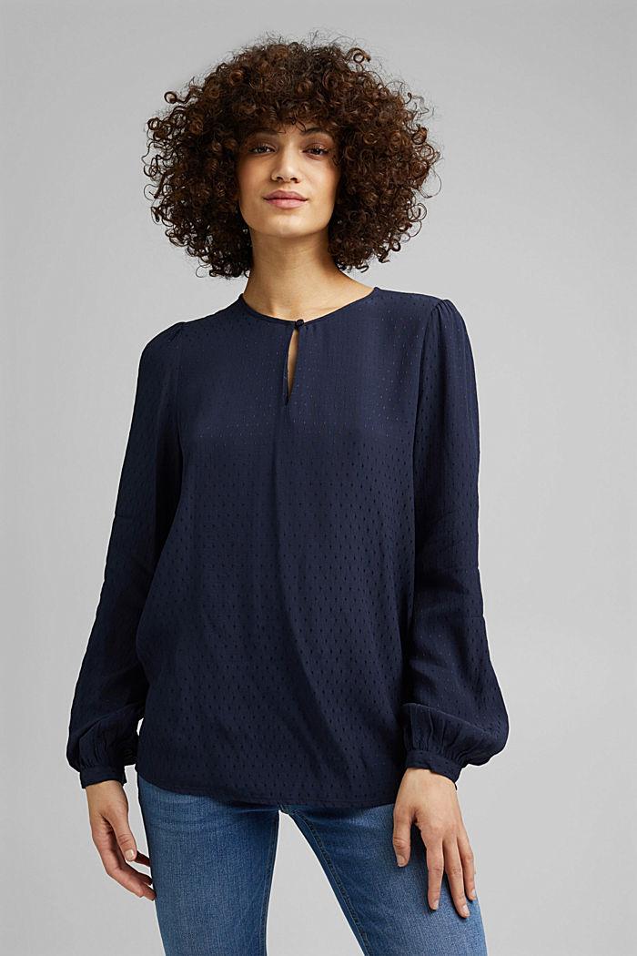 Fijn gestructureerde blouse van LENZING™ ECOVERO™