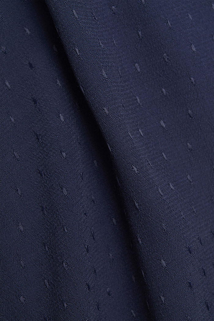 Finely textured blouse made of LENZING™ ECOVERO™, NAVY, detail image number 4