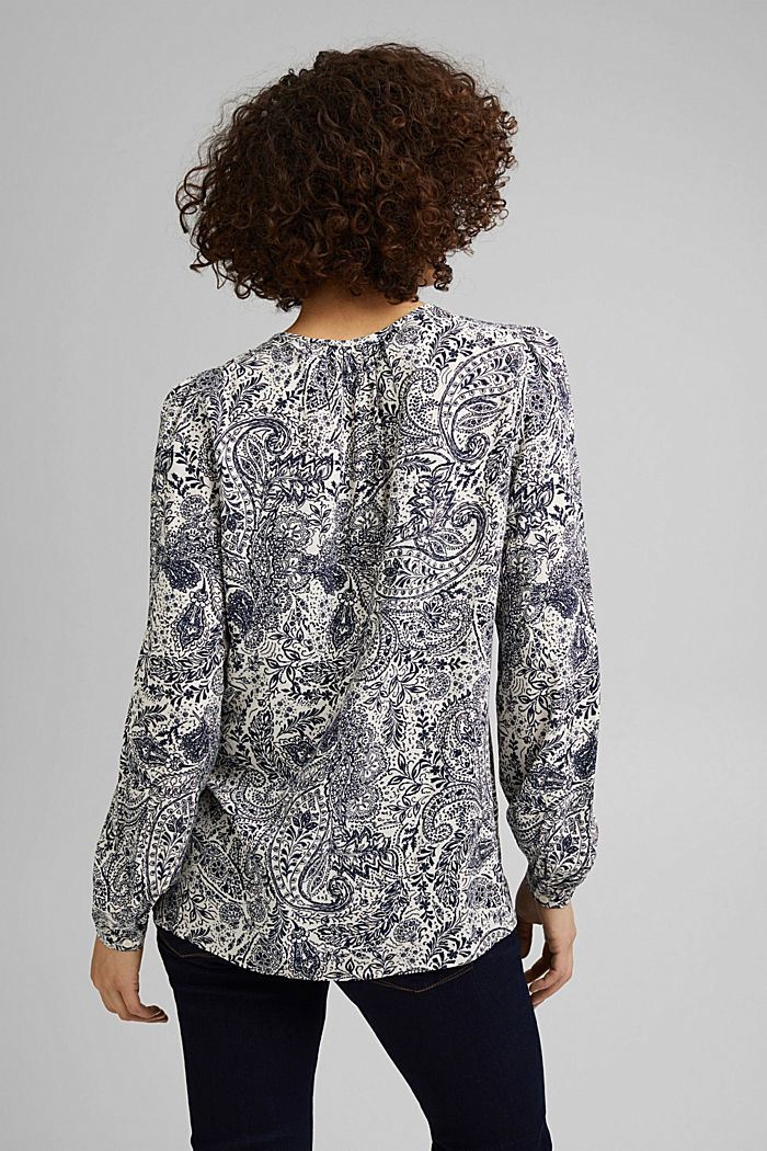 Paisley print blouse, OFF WHITE, detail image number 3