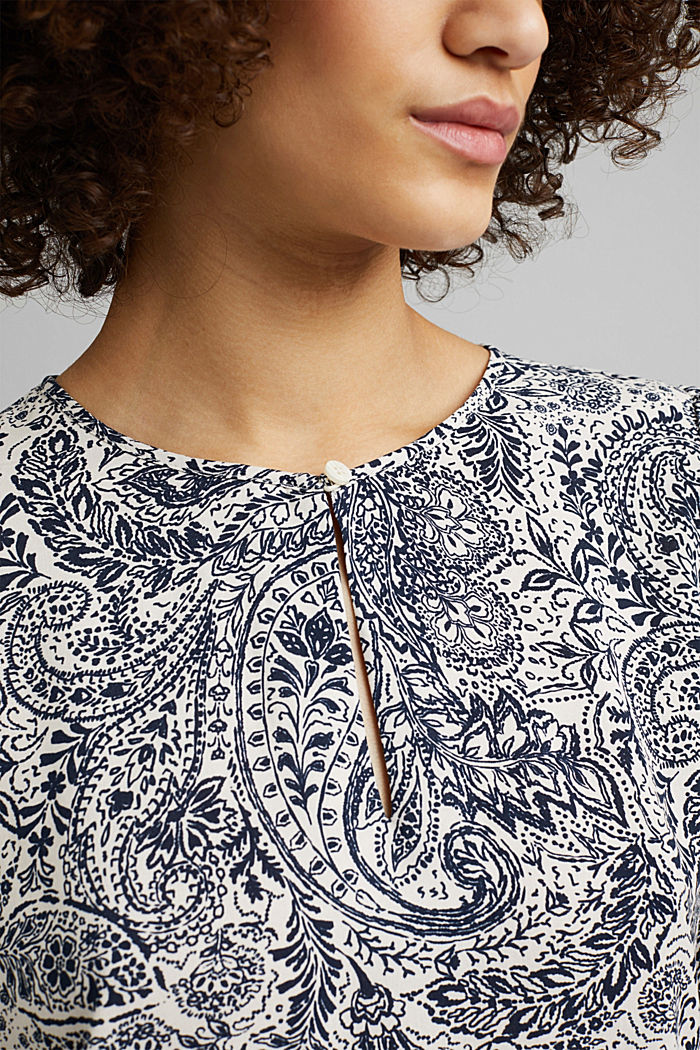 Paisley print blouse, OFF WHITE, detail image number 2