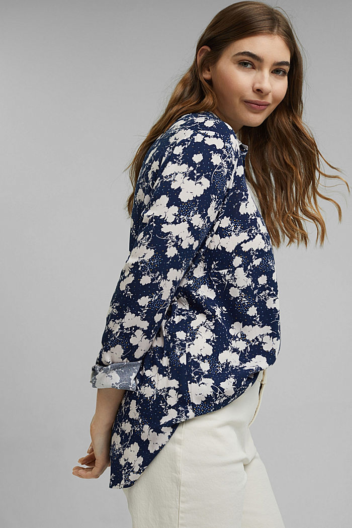 CURVY shirt blouse with a floral print