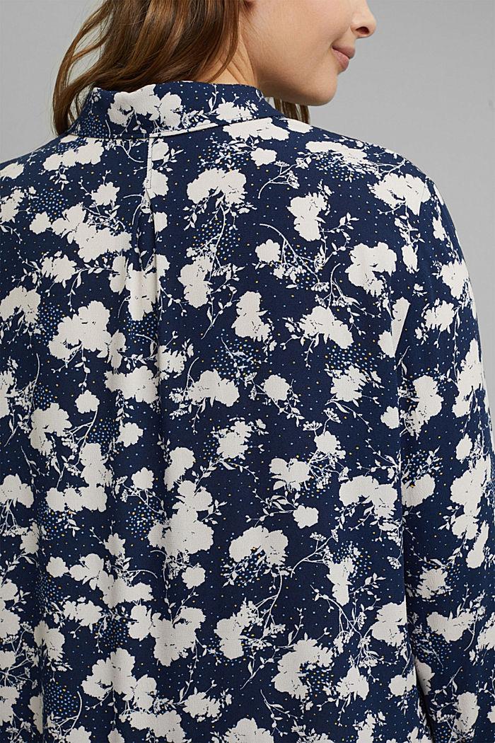 CURVY Hemdbluse mit Blumen-Print, NAVY, detail image number 2