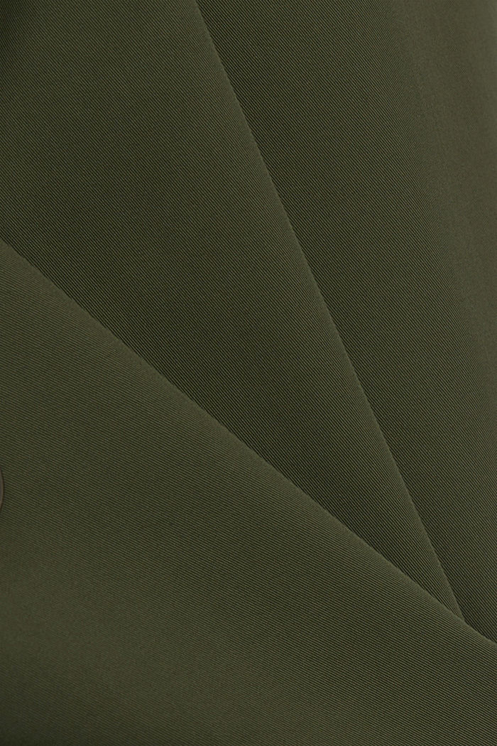 Recycled: Rain jacket with organic cotton, KHAKI GREEN, detail image number 4