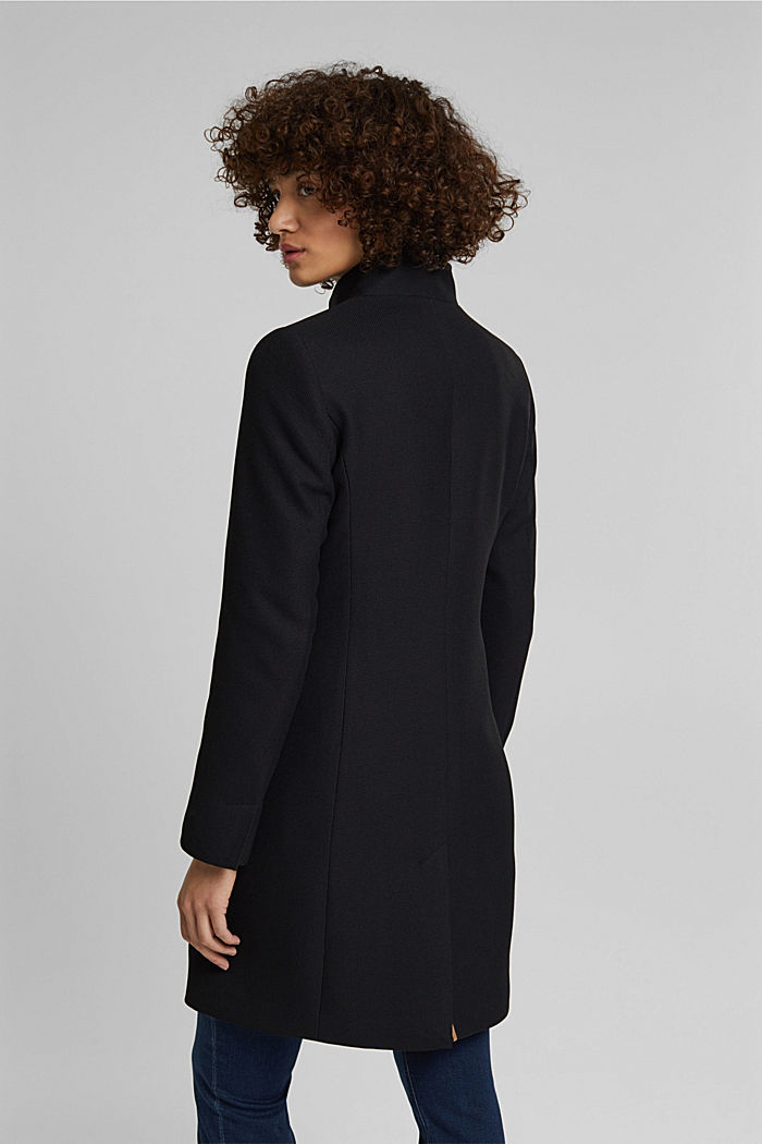 Textured blazer coat, BLACK, detail image number 3