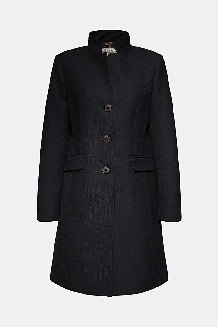 Textured blazer coat, BLACK, detail image number 5