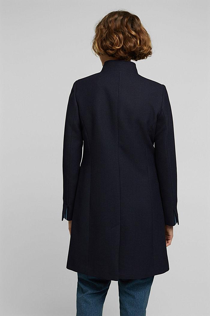 Textured blazer coat, NAVY, detail image number 3