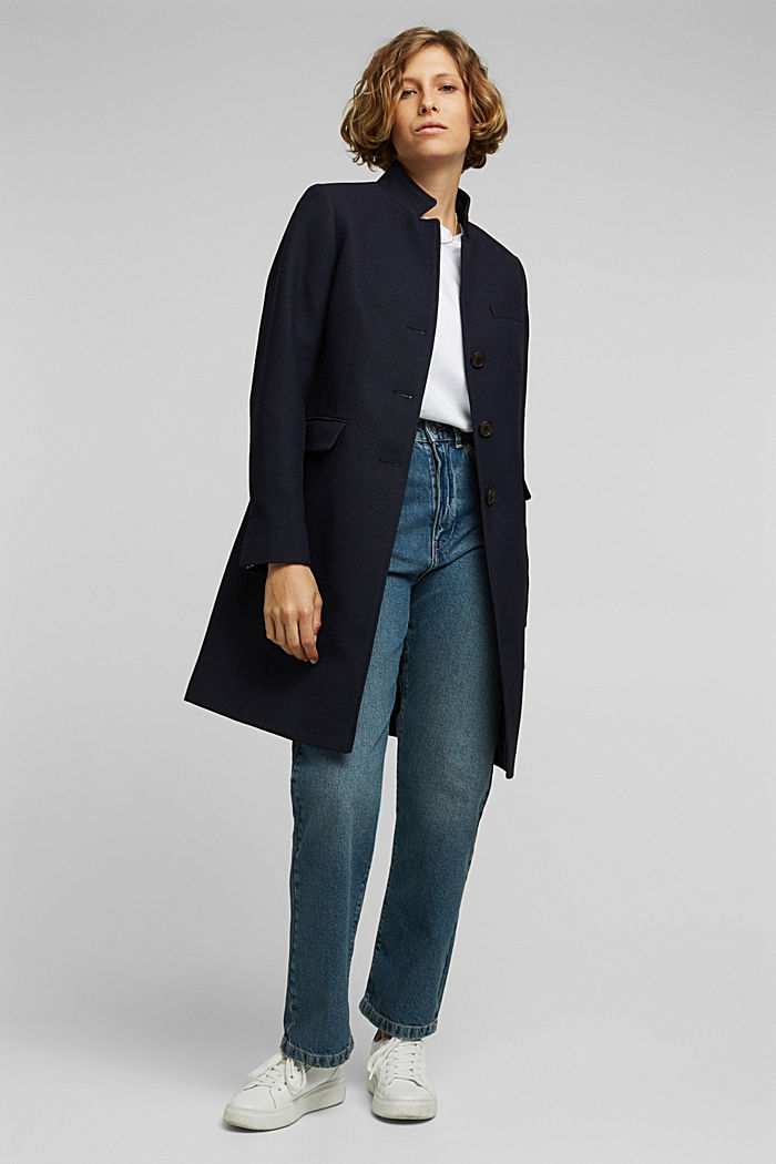 Textured blazer coat