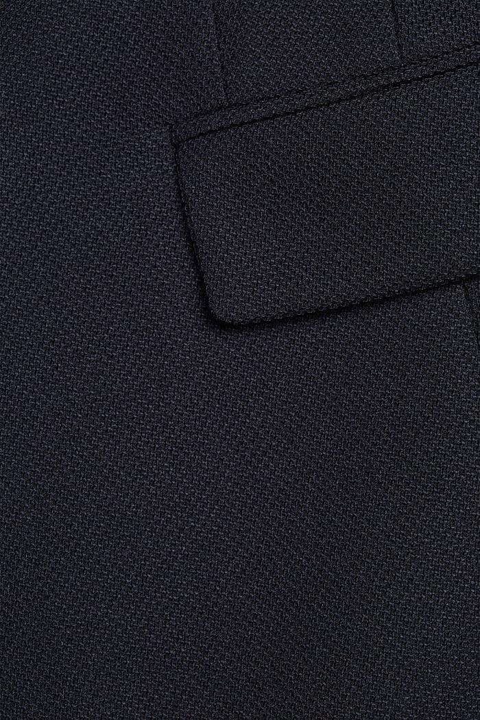 Textured blazer coat, NAVY, detail image number 4