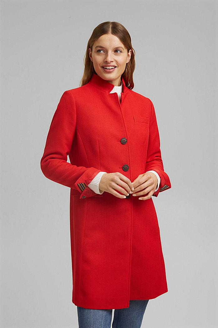 Textured blazer coat, RED, detail image number 0