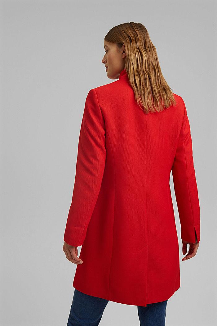 Textured blazer coat, RED, detail image number 3