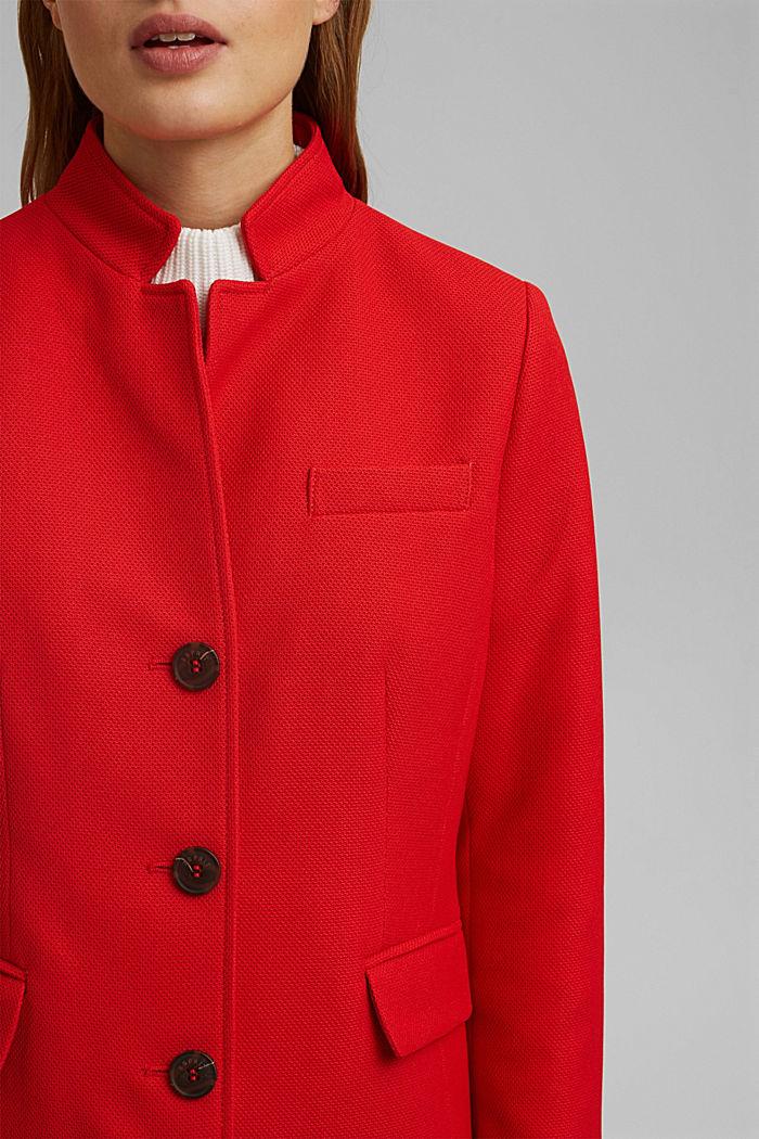 Textured blazer coat, RED, detail image number 2