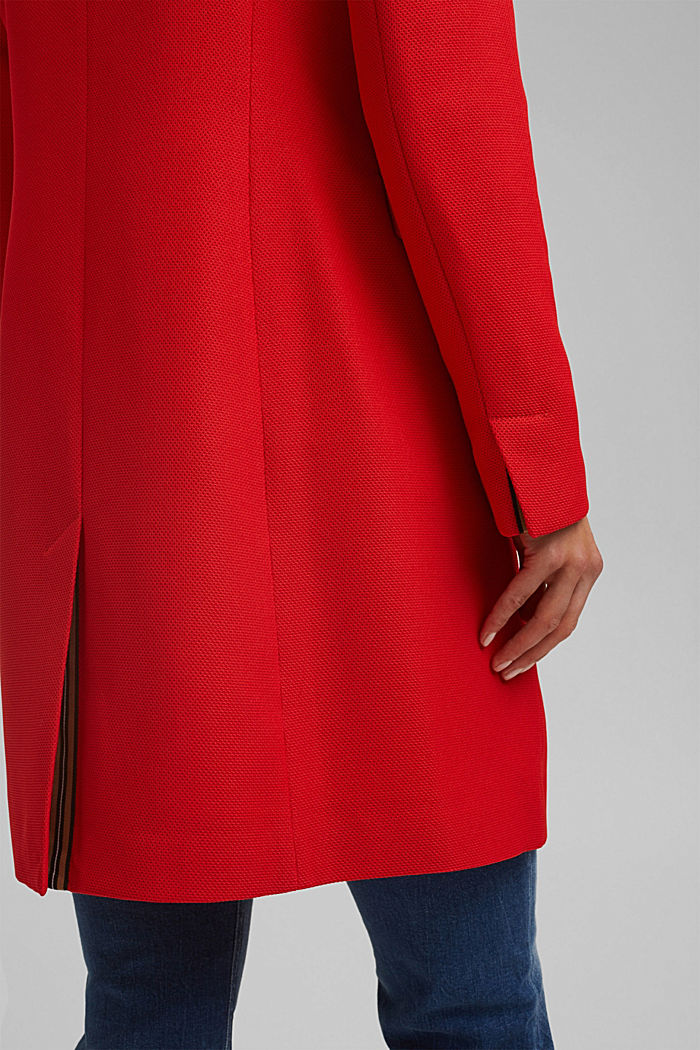 Textured blazer coat, RED, detail image number 5