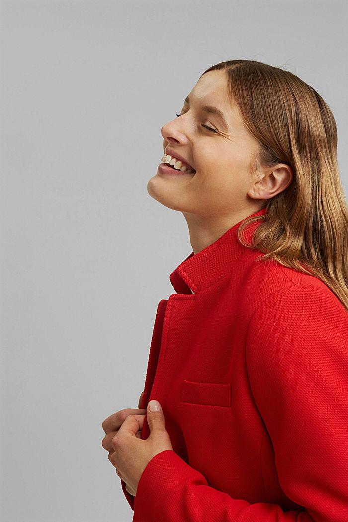 Manteau blazer texturé, RED, detail image number 6