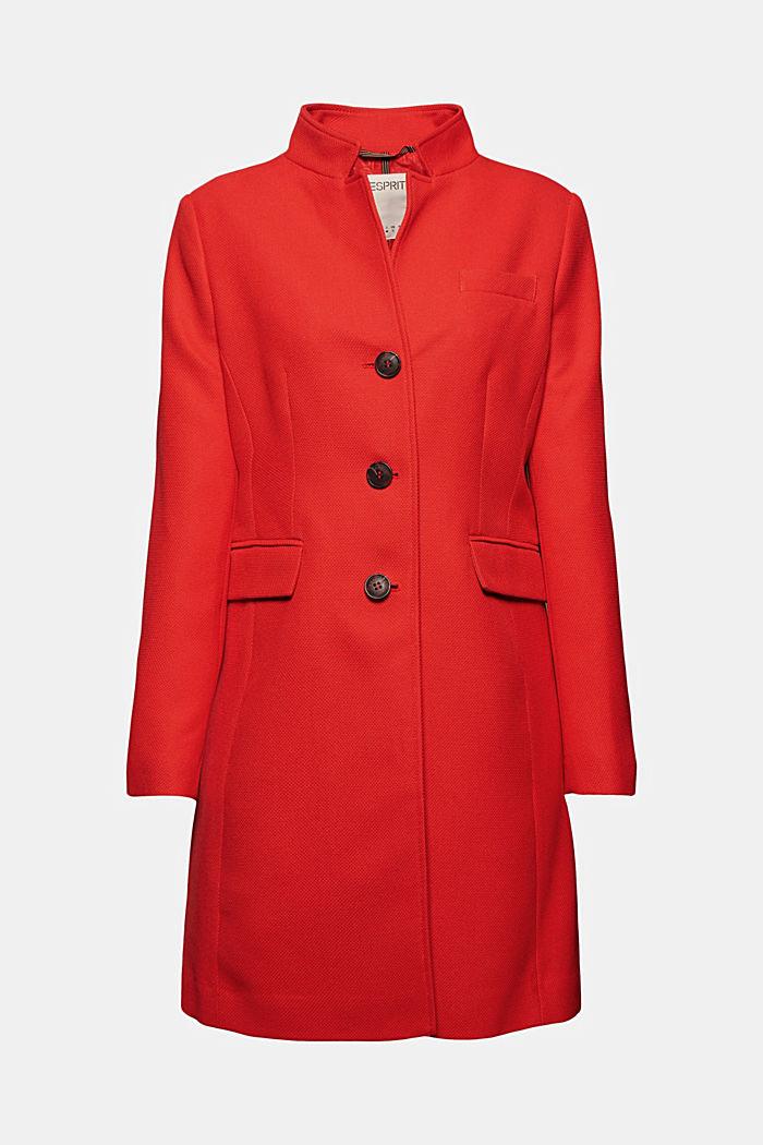 Textured blazer coat, RED, detail image number 7