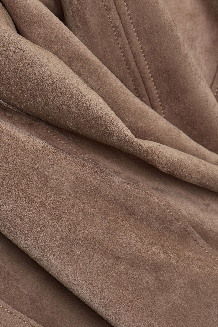 Faux suede biker jacket, TAUPE, detail image number 4