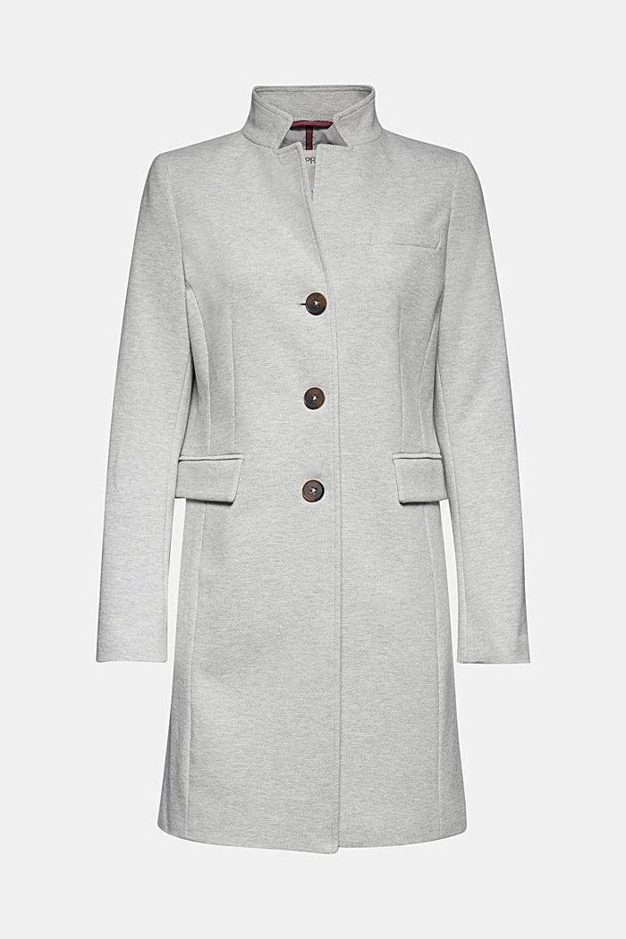 In blended cotton: jersey coat, LIGHT GREY, detail image number 6