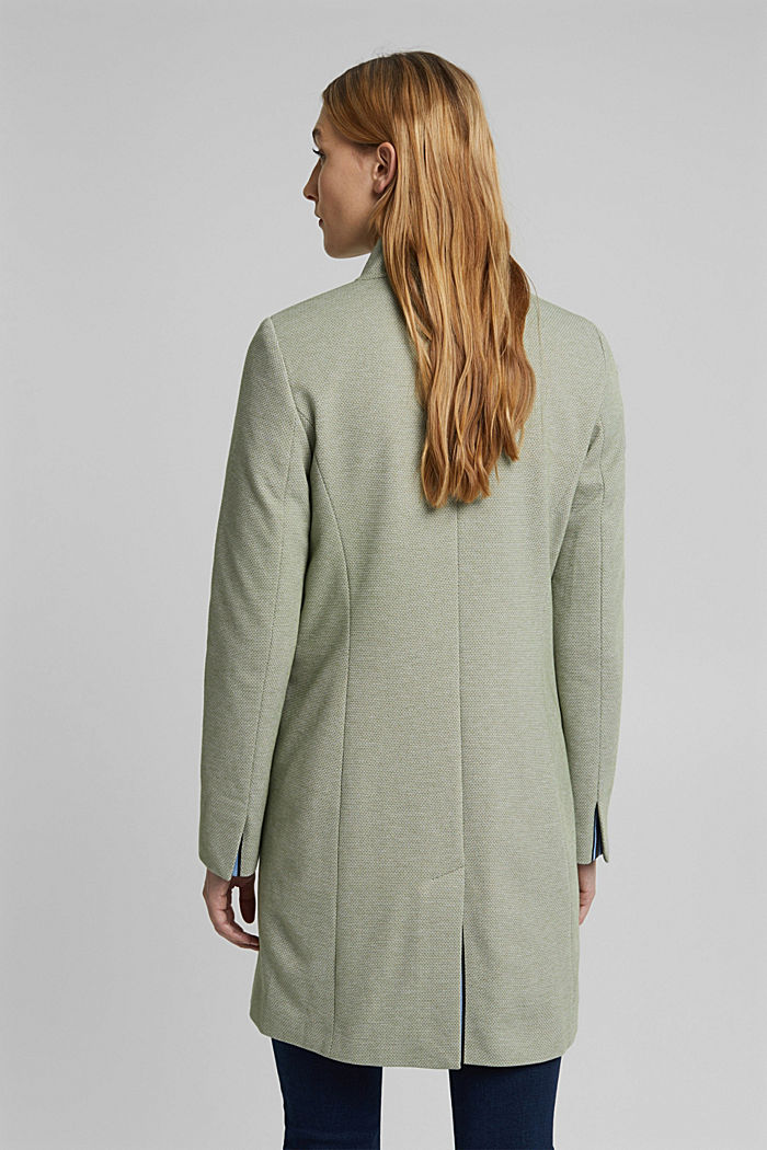 In blended cotton: jersey coat, LIGHT KHAKI, detail image number 3