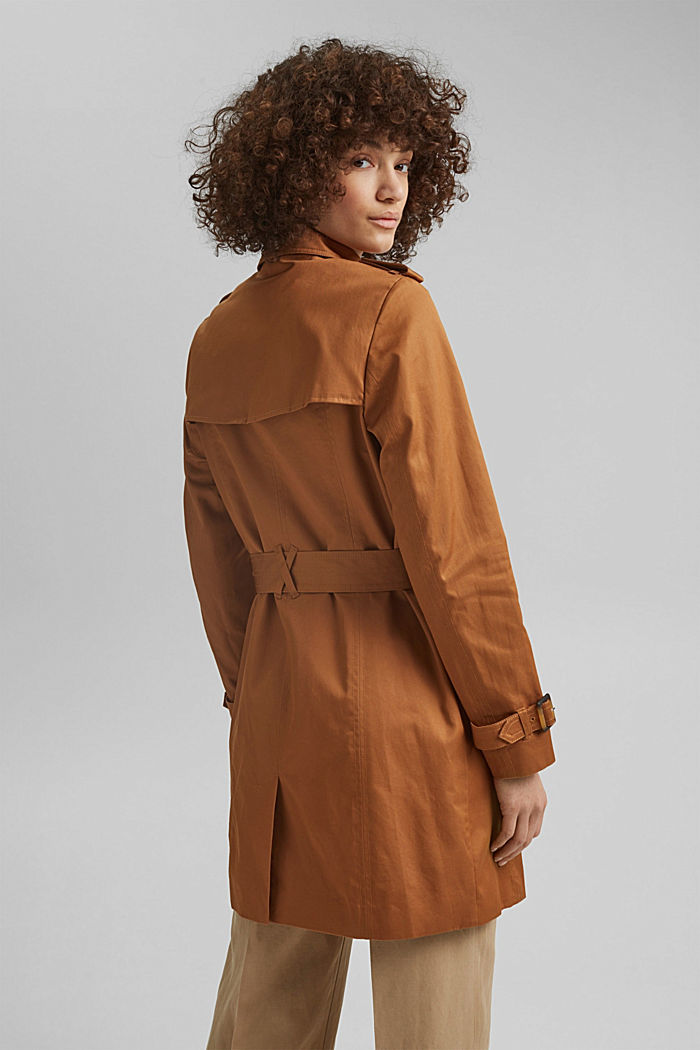 Recycelt: Trenchcoat mit Organic Cotton, CAMEL, detail image number 3