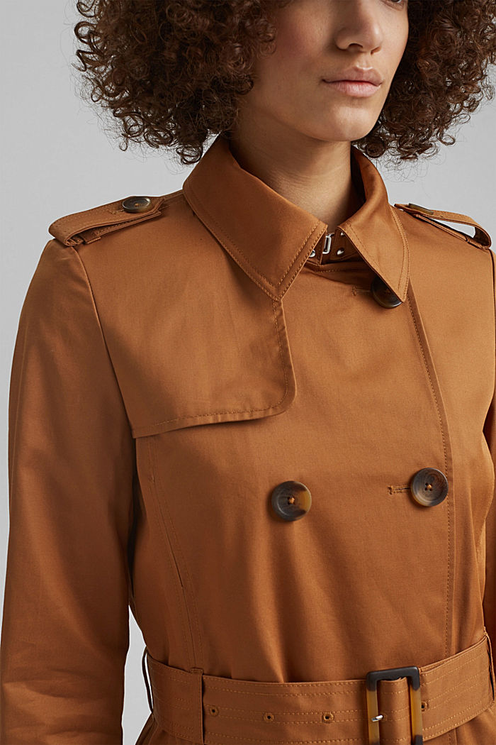 Recycelt: Trenchcoat mit Organic Cotton, CAMEL, detail image number 2