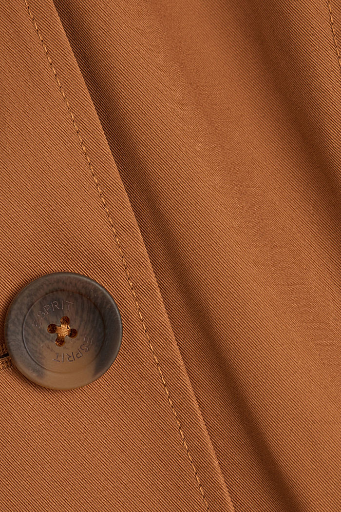 Recycelt: Trenchcoat mit Organic Cotton, CAMEL, detail image number 4