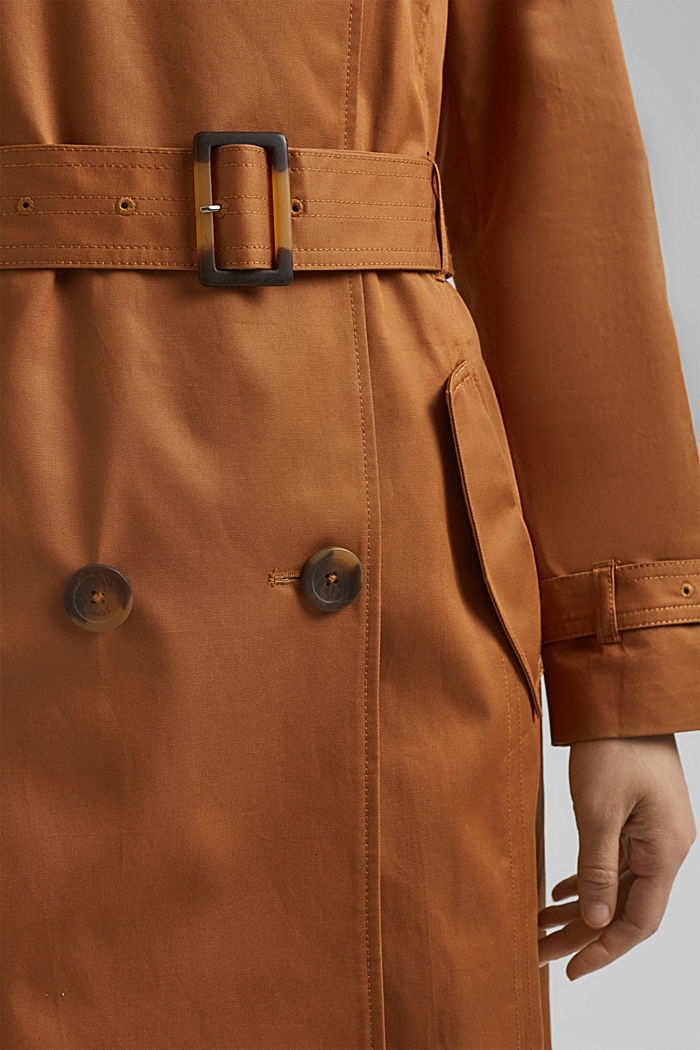 Recycelt: Trenchcoat mit Organic Cotton, CAMEL, detail image number 5