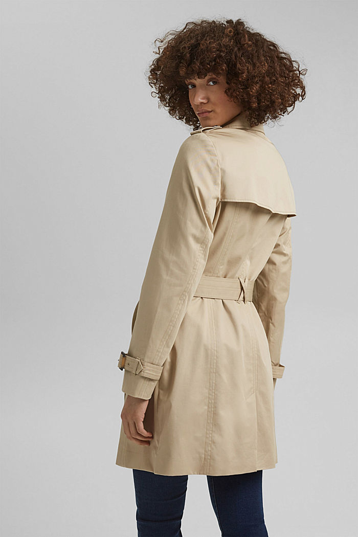 Recycled: trench coat containing organic cotton, SAND, detail image number 3