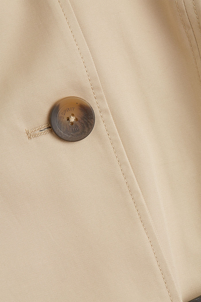 Recycled: trench coat containing organic cotton, SAND, detail image number 4