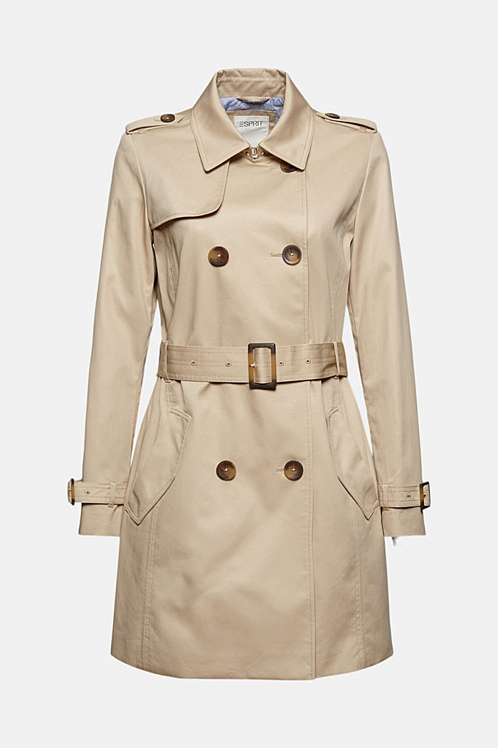 Recycled: trench coat containing organic cotton, SAND, detail image number 7