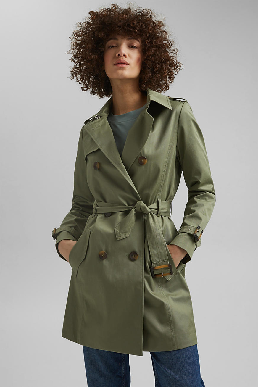 Gerecycled: trenchcoat van organic cotton