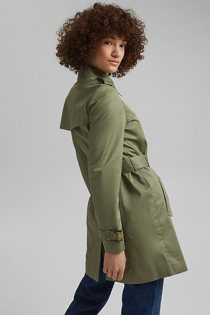 Recycled: trench coat containing organic cotton, LIGHT KHAKI, detail image number 3