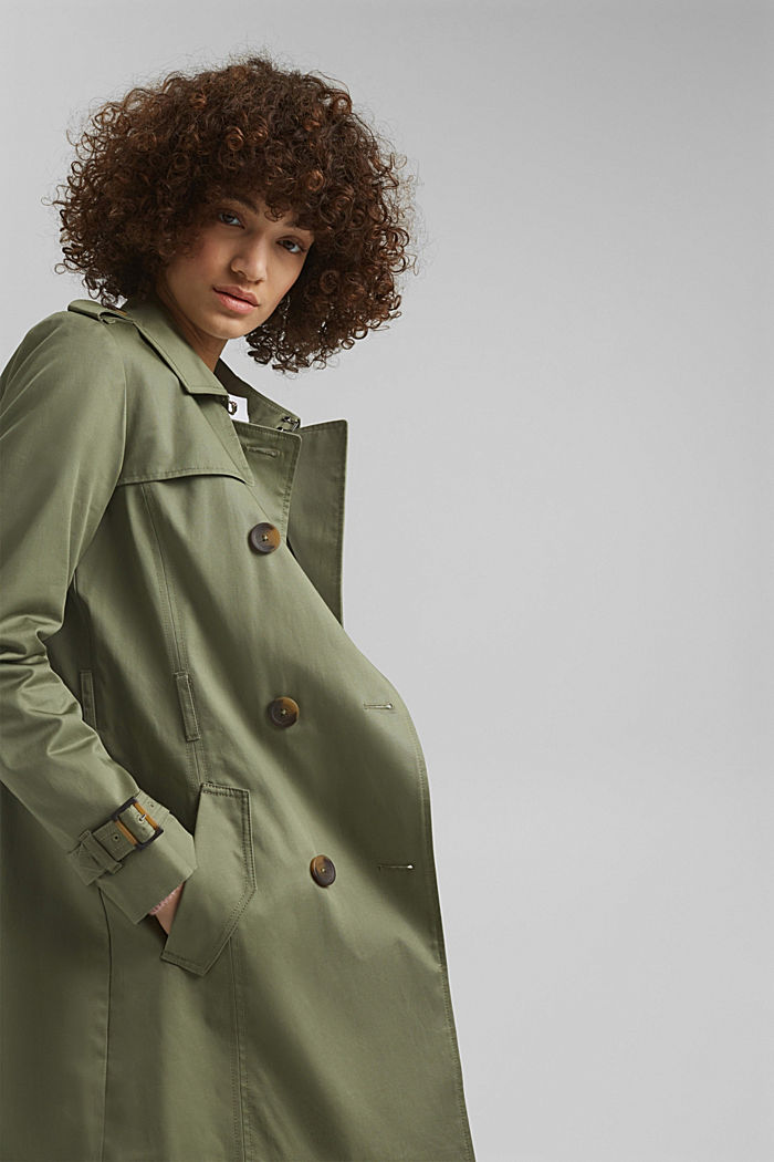 Recycelt: Trenchcoat mit Organic Cotton, LIGHT KHAKI, detail image number 6