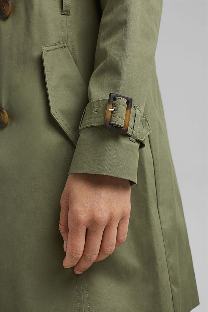 Recycelt: Trenchcoat mit Organic Cotton, LIGHT KHAKI, detail image number 5