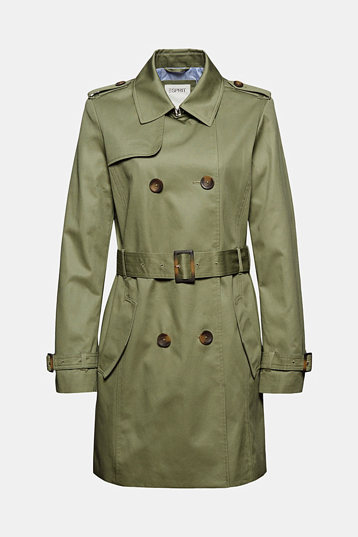 Recycelt: Trenchcoat mit Organic Cotton