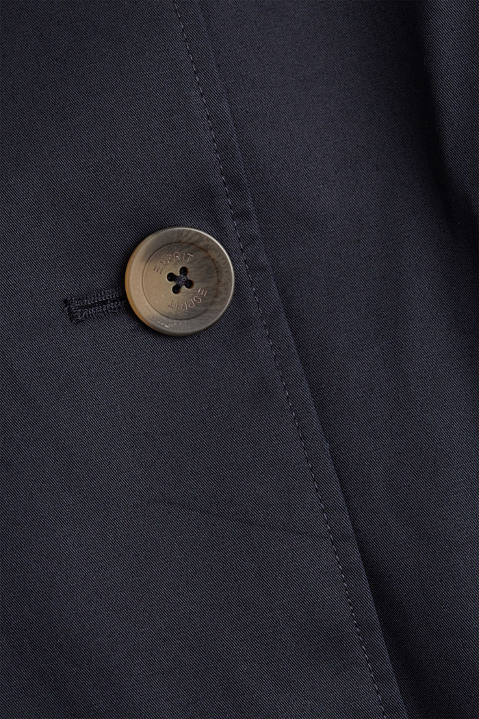 Recycelt: Trenchcoat mit Organic Cotton, NAVY, detail image number 4