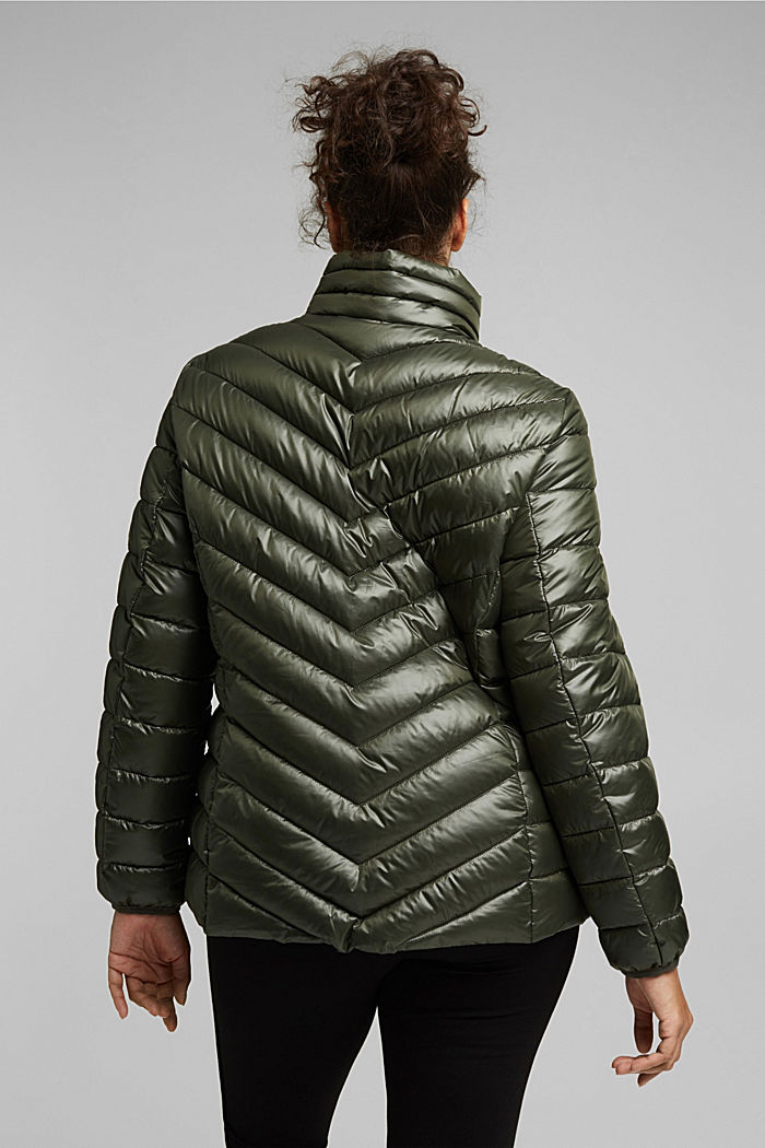 CURVY jacket with 3M™ Thinsulate™ filling, KHAKI GREEN, detail image number 3