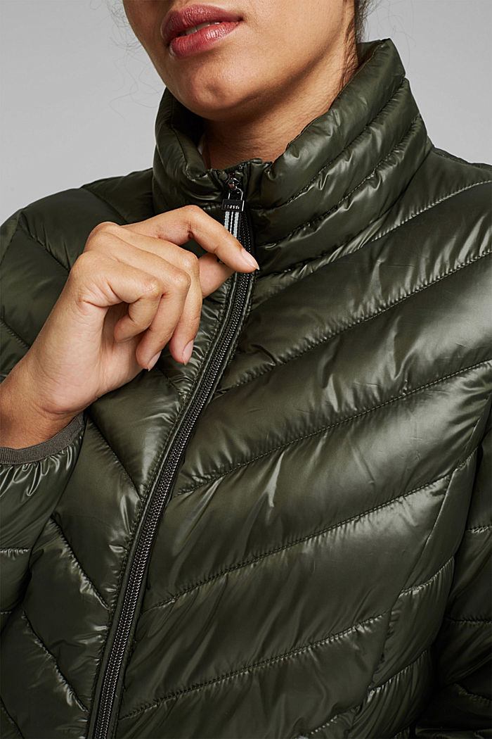 CURVY jacket with 3M™ Thinsulate™ filling, KHAKI GREEN, detail image number 2