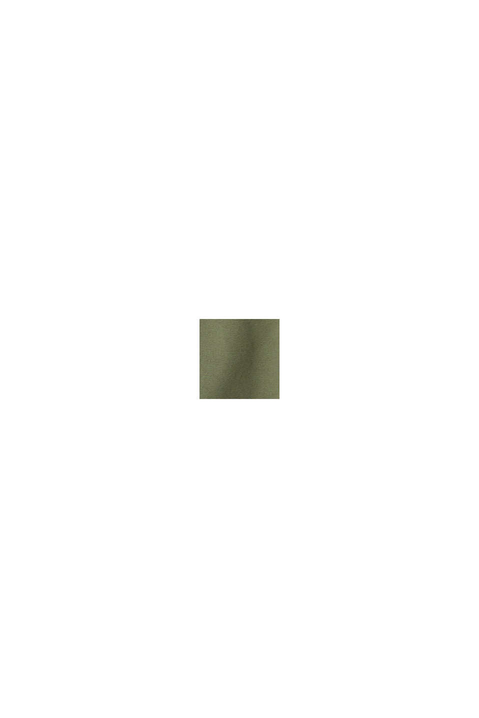 Gabardina CURVY en algodón ecológico, KHAKI GREEN, swatch