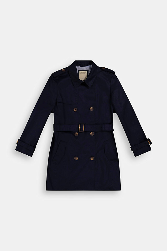 CURVY trench coat made of organic cotton, NAVY, detail image number 1
