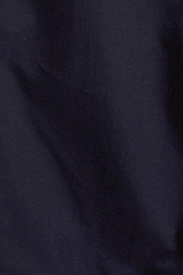 Trenchcoat mit Kapuze, aus Bio-Baumwolle, NAVY, detail image number 4