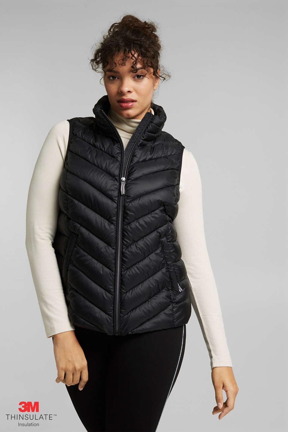 Esprit - Gilet CURVY au rembourrage 3M™ Thinsulate™