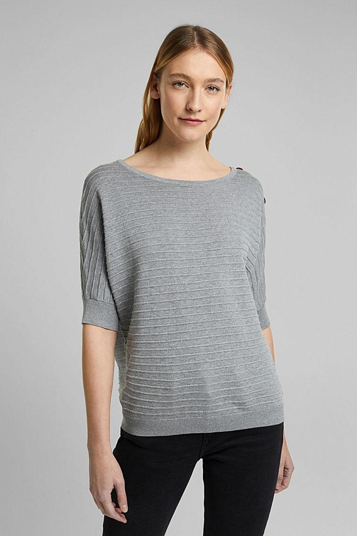 Pullover mit Organic Cotton, MEDIUM GREY, detail image number 0