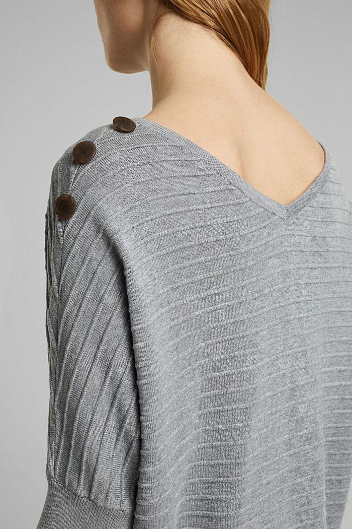 Pullover mit Organic Cotton, MEDIUM GREY, detail image number 2