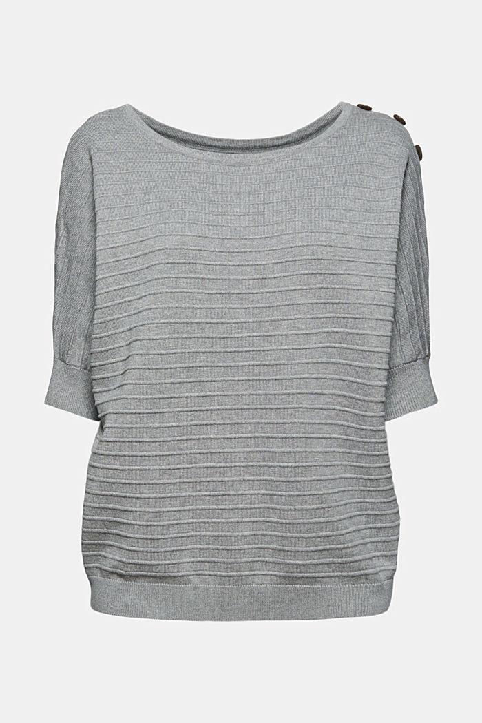 Pullover mit Organic Cotton, MEDIUM GREY, detail image number 5
