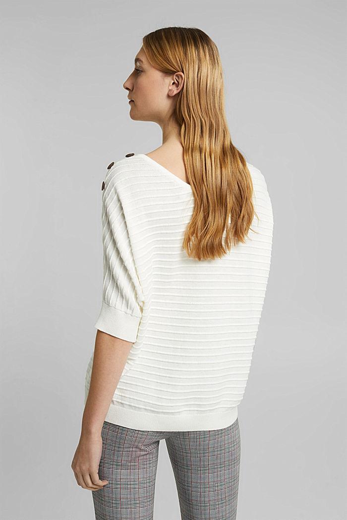 Sweter z bawełną organiczną, OFF WHITE, detail image number 3