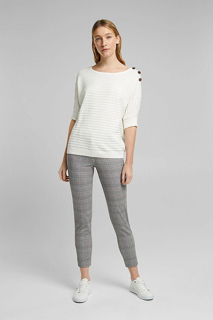 Sweter z bawełną organiczną, OFF WHITE, detail image number 1