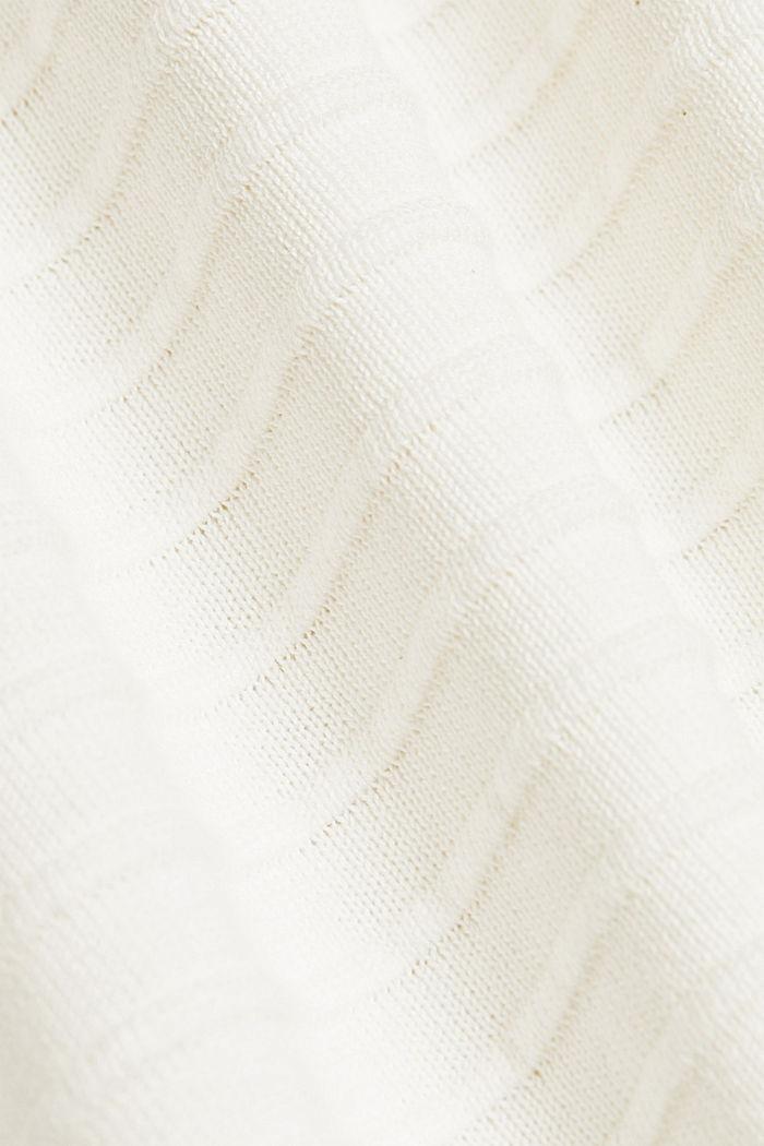 Sweter z bawełną organiczną, OFF WHITE, detail image number 4