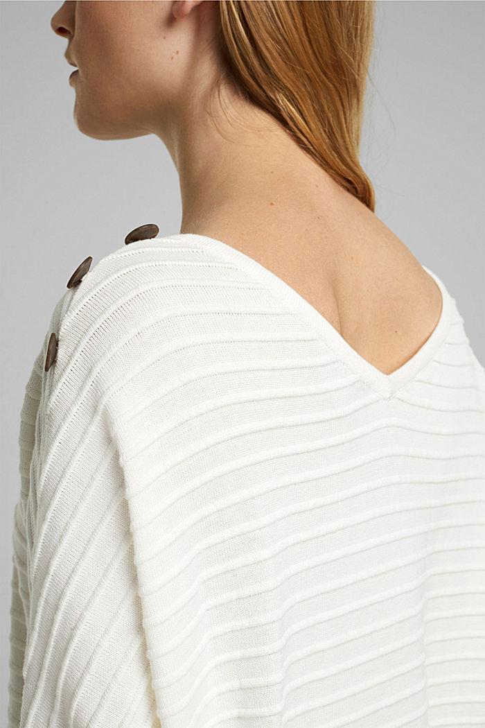 Sweter z bawełną organiczną, OFF WHITE, detail image number 5